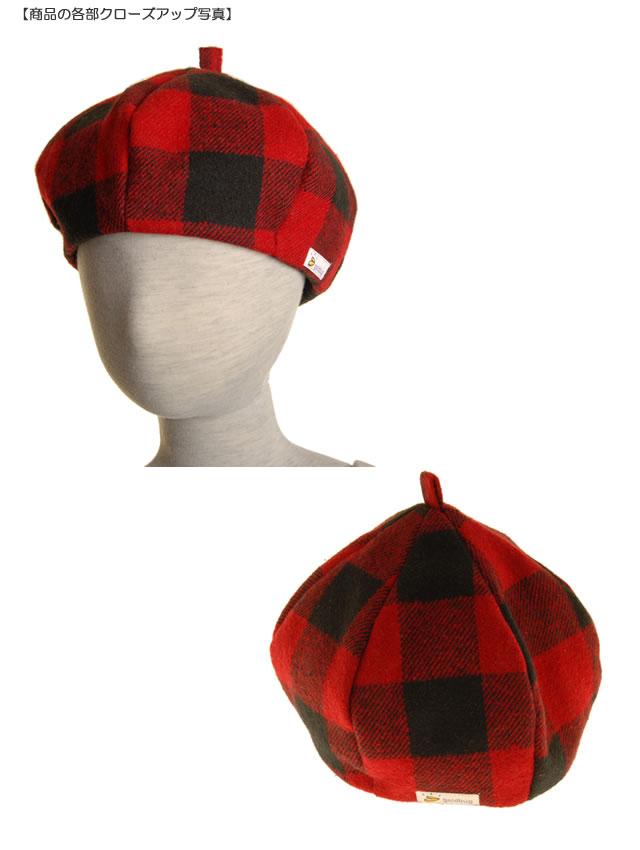 goldbug チェックベレー帽